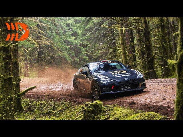 Supercharged Subaru BRZ Rally Car Races at Olympus Rally 2021 | DirtFish Motorsports