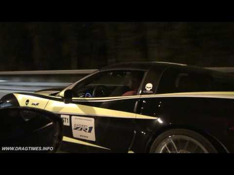 Chevrolet Corvette ZR1 vs Nissan GT-R Switzer P800