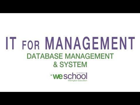 Database Management System Lectures - IT for Management