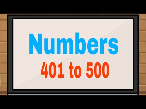 Numbers 401 to 500 | Counting | Maths for kids |