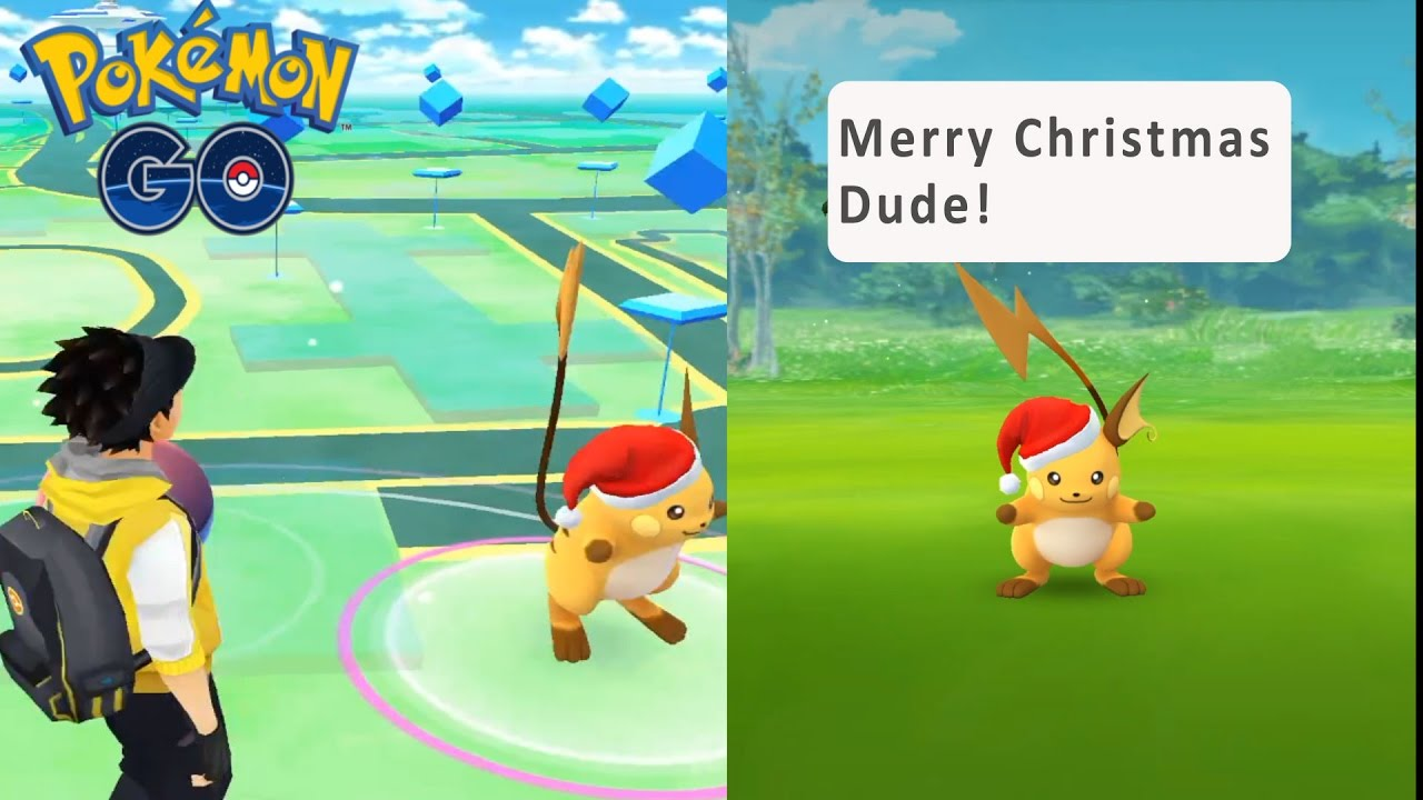 i caught a customed raichu and pikachu christmas event pokemon go generation 2 update youtube. Black Bedroom Furniture Sets. Home Design Ideas