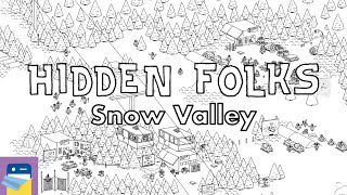 Hidden Folks: Snow Valley Walkthrough Guide & Locations & iOS iPad Gameplay (by Adriaan de Jongh)