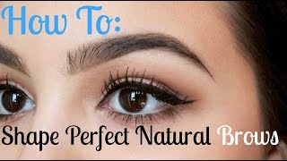 How to Shape Perfect Natural Eyebrows Thumbnail