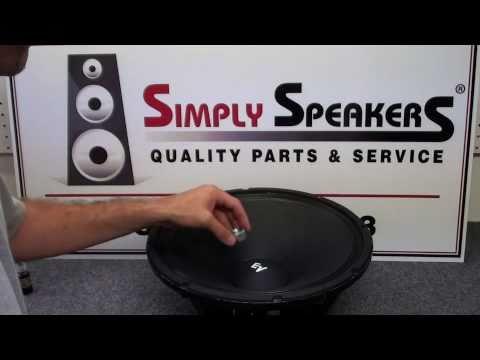 Speaker Repair EV Dust Cap Replacement By Simply Speakers