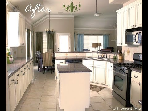 Painting Kitchen Cabinets With Chalk Paint YouTube Extraordinary Chalk Paint On Kitchen Cabinets
