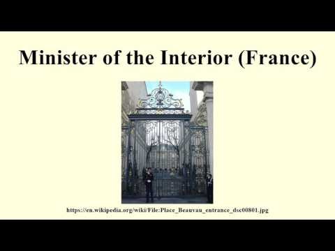 Minister of the Interior (France)