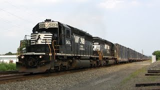 FULL THROTTLE SD40-2 Struggles to Take out the Trash!