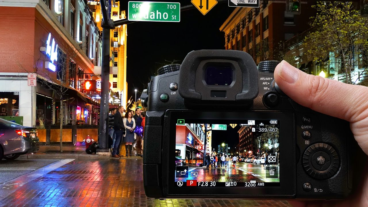 Panasonic GH5 Night Video 4K 60FPS + Comparison to Sony a6500