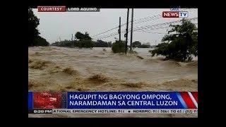 Hagupit ng Bagyong Ompong, naramdaman sa Central Luzon
