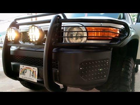 FJ Cruiser Off Road Light Installation - YouTube