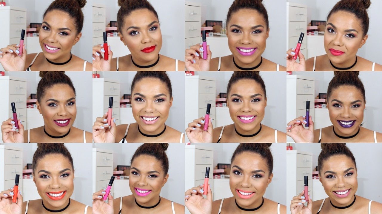 ac7959cdf73 Sephora Collection Cream Lip Stain Swatches + Review | samantha jane -  YouTube