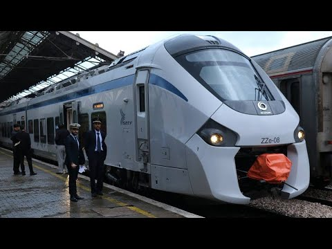 TRAINS IN ALGERIA , CORADIA 160km/h  ا محطتي آغا و وهران ا ride from Oran to Agha