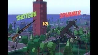 Fucile vs Spammers Roblox Strucid