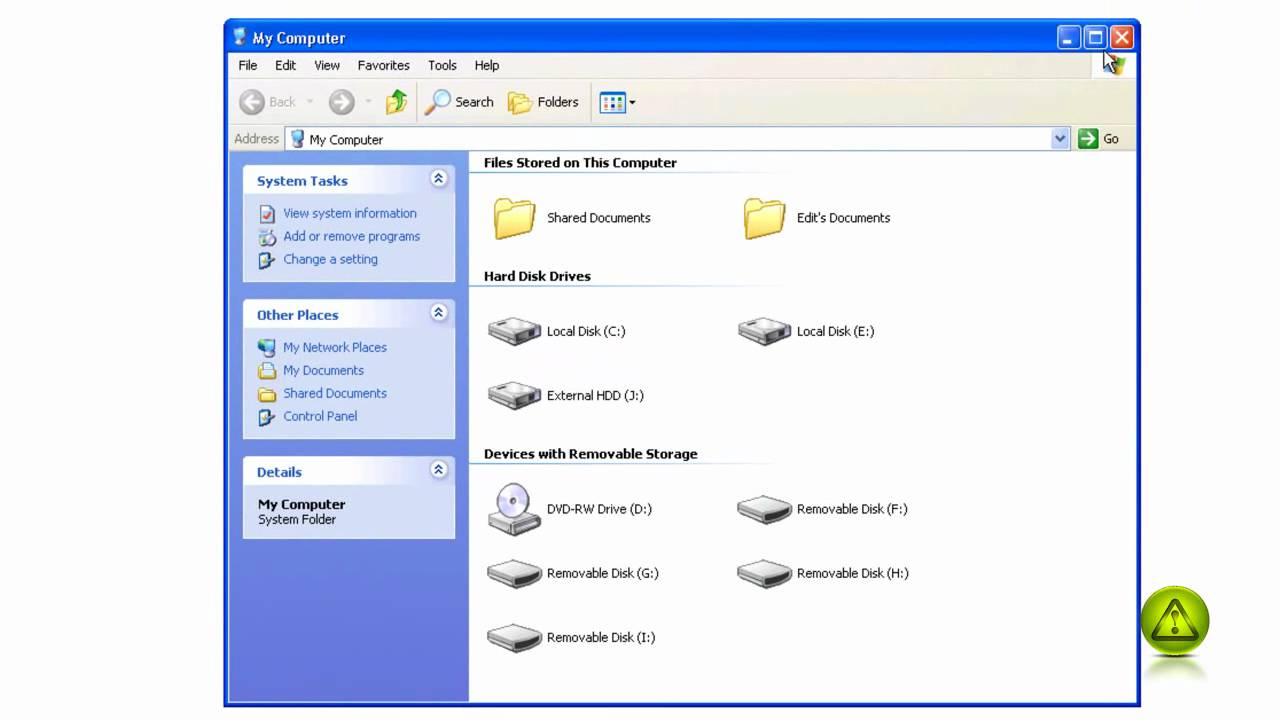How to move the my documents folder in windows xp youtube for Move my documents xp