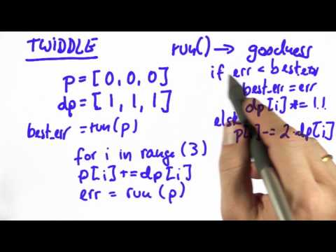 Twiddle - Artificial Intelligence for Robotics