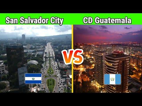 SAN SALVADOR CITY vs CIUDAD DE GUATEMALA ACTUALIZADO - comparacion de ciudades C.A