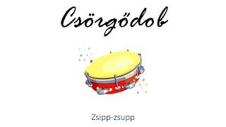 Hangszer ovi - Zsipp-zsupp (csörgődob) / Hungarian children song (cat, cow, dog, animal)