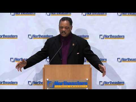 Rev. Jesse Jackson Sr. speaks at Northeastern Illinois University