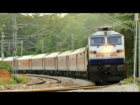 Then Diesel, now Electric - WDP-4D vs WAP-7 | Primo Supremo Bengaluru Rajdhani [4K]