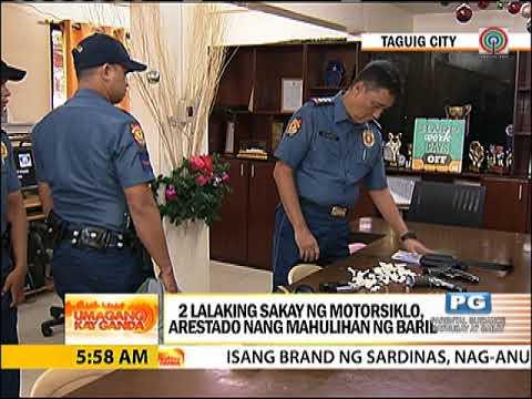 2 'guwardiya' sa Taguig, nahulihan ng mga baril at bala