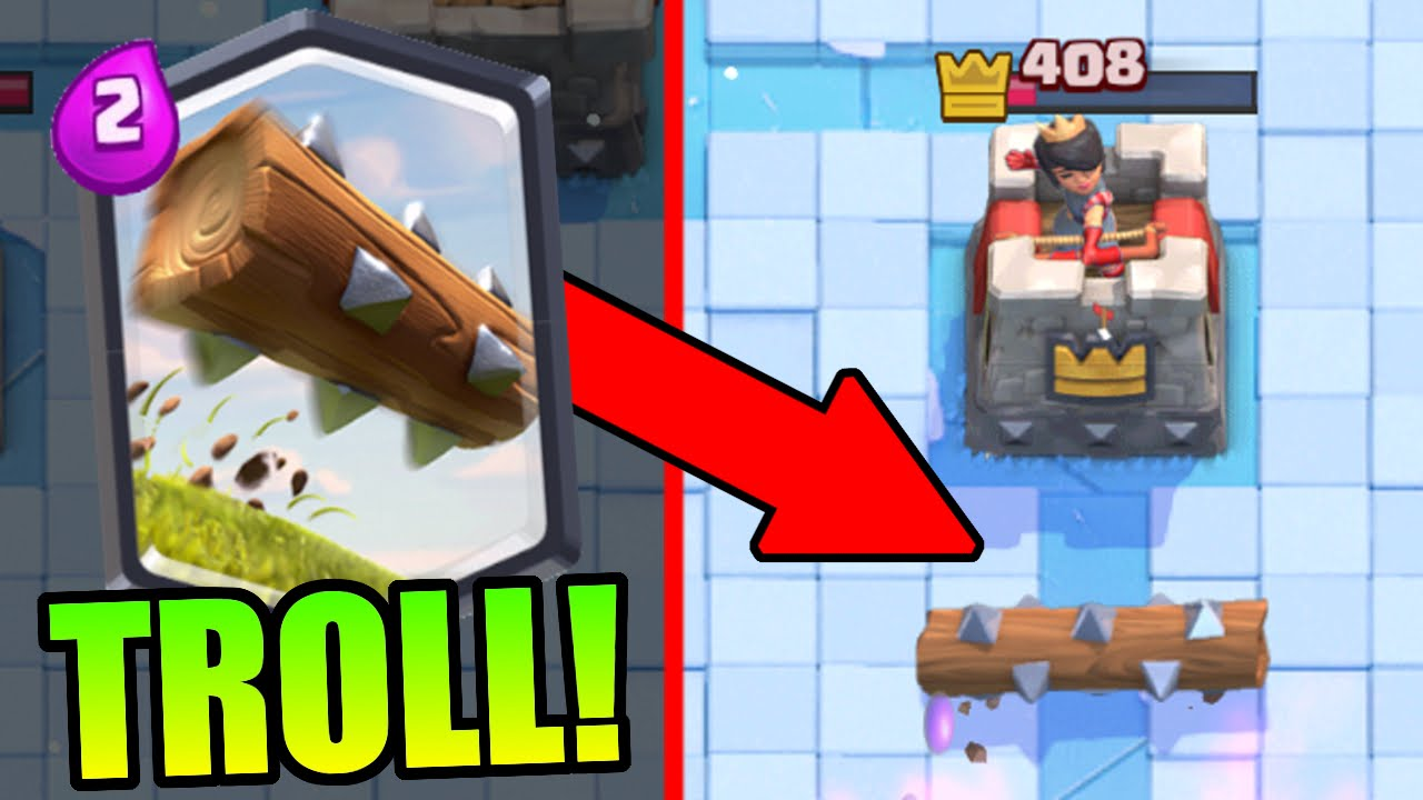 "Clash Royale | ""THE LOG"" TROLL DECK!! THIS IS HILARIOUS! - YouTube"