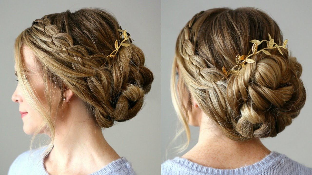 4 Strand Braid Updo | Missy Sue - YouTube