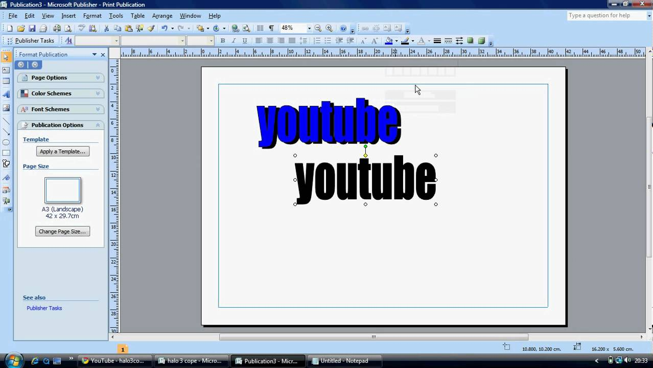 How to make cool titles on microsoft publisher youtube for Microsoft publisher youtube