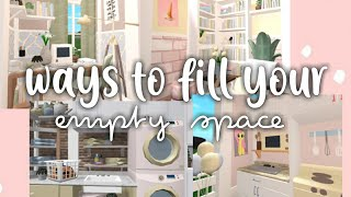 Ways To Fill Your Empty Space Bloxburg Youtube