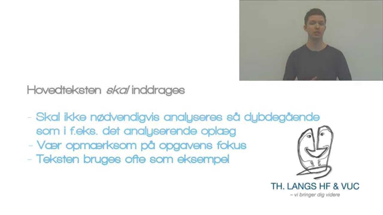 Skriftlig Dansk HF - Den introducerende artikel