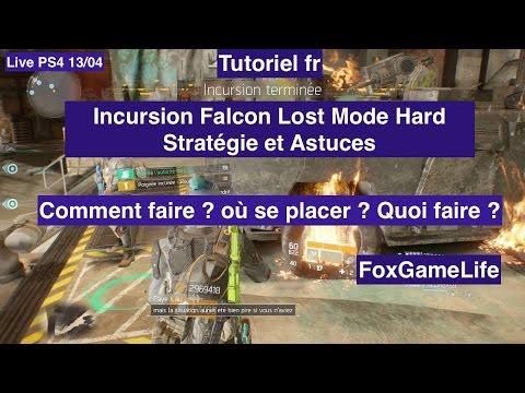 The Division - Tuto RAID FINI en 45mins - Astuces Strat Falcon Lost Hard Live PS4 13/04