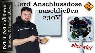 Herdanschlussdose 230 Volt anschließen (3 Kabel/Adern) von M1Molter