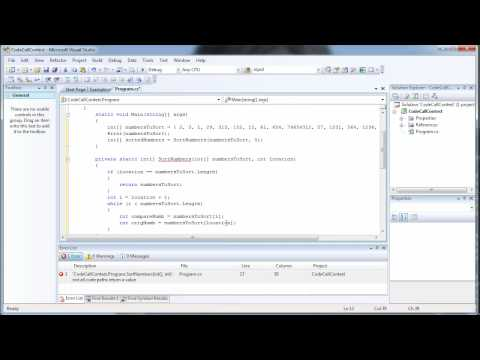 How to write a Sorting Algorithm in C# Using Visual Studio 2008 - Codecall.net