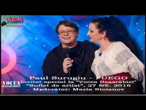 """Paul Surugiu - FUEGO: Invitat special la Radio """"Vocea Basarabiei"""" (""""Suflet de artist"""", 27 feb. 2016)"""