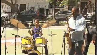11 year old drummer wows audiences   New York News (Kojo Odu) Video