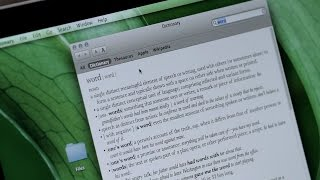 How to Get Word Definitions on Your Mac | Mac Basics