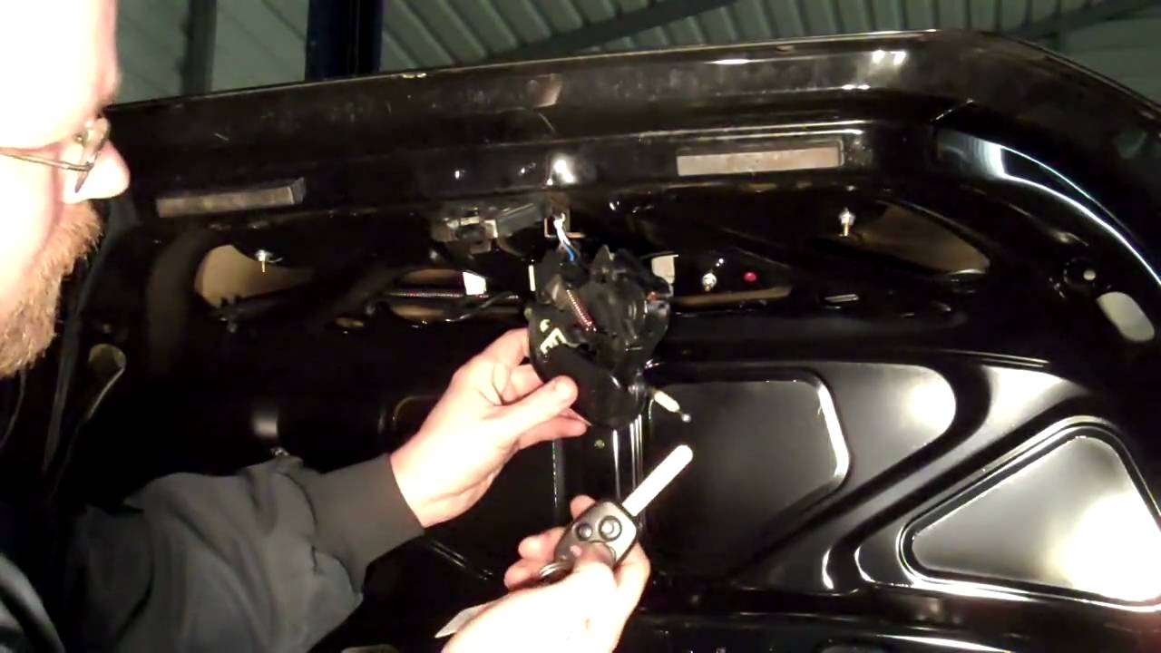 maxresdefault how to repair a trunk that won't open (part 1) youtube Hood Latch at aneh.co