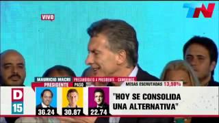 Elecciones 2015: Discurso de Macri tras las Primarias