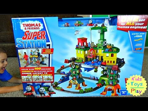 Thomas and Friends Super Station | Playing with Trains | Super Station for Thomas Trains for Kids