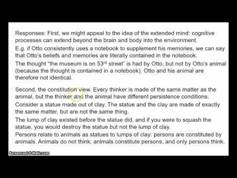 Personal Identity 2 - Animalism