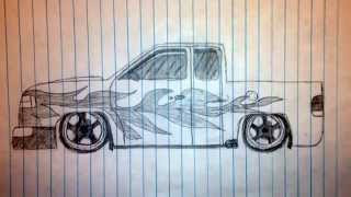 How to draw a truck.