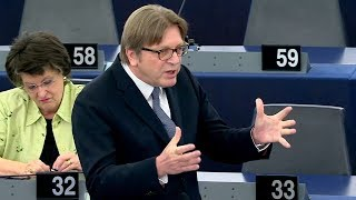 """Verhofstadt: """"Maybe the only thing that can save us is Nigel Farage now"""""""