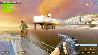 Counter Strike Source - Zombie Escape Mod online gameplay on Sorrento Escape Map