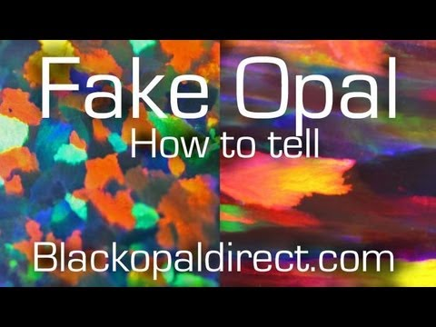 How To Tell A Fake Opal Or Synthetic From The Real Thing By Blackopaldirect You