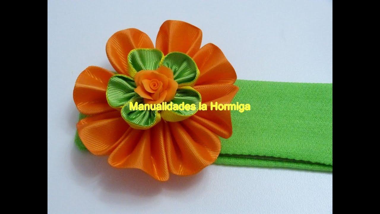 Modelos de flores en cinta gross para decorar accesorios - Accesorios para decorar ...