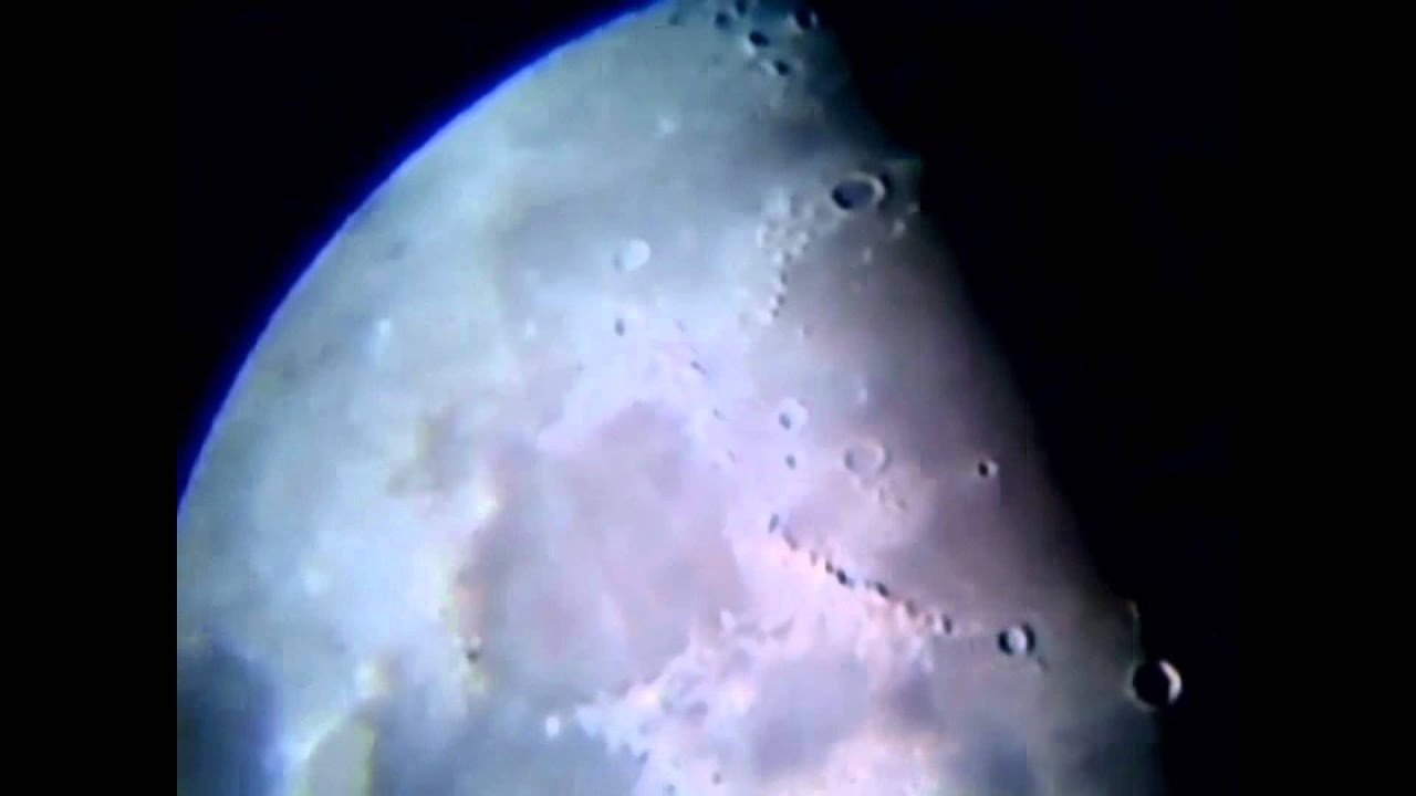 How to install webcam camera to telescope in 5 minutes Moon surface HD video