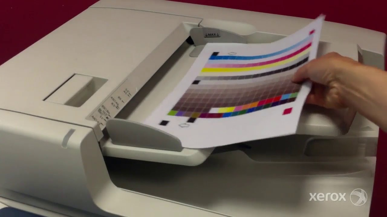 Xerox Workcentre Wc7435 7535 7830 7970i Color Matching Youtube