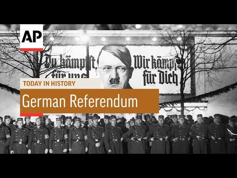 German Referendum - 1934 | Today In History | 19 Aug 18
