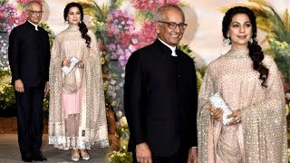 Juhi Chawla With Husband Jay Mehta At Sonam kapoor & Anand Ahuja's Wedding Reception