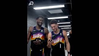 Devin Booker & Deandre Ayton FaceTiming Chris Paul after game 1 vs Clippers 🙌