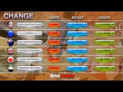 Banque : Affichage Du Taux De Change